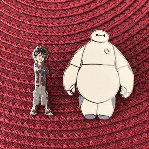 Disney Hiro and Baymax pins
